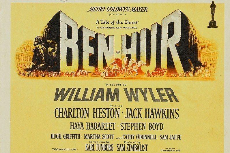 1959年問世的《賓漢》宣傳品。 圖/作者提供