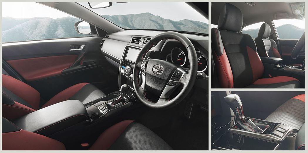 在內裝方面則是使用紅/黑皮革,搭配紅色車縫線。 摘自Toyota.jp