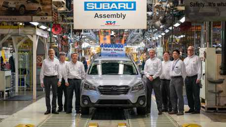 Subaru慶祝在美生產400萬輛汽車里程碑! 新Legacy/Outback即將上線