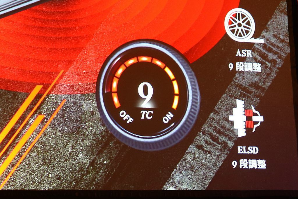 「AMG Traction Control」9段循跡控制系統。駕駛可以自行切換段...