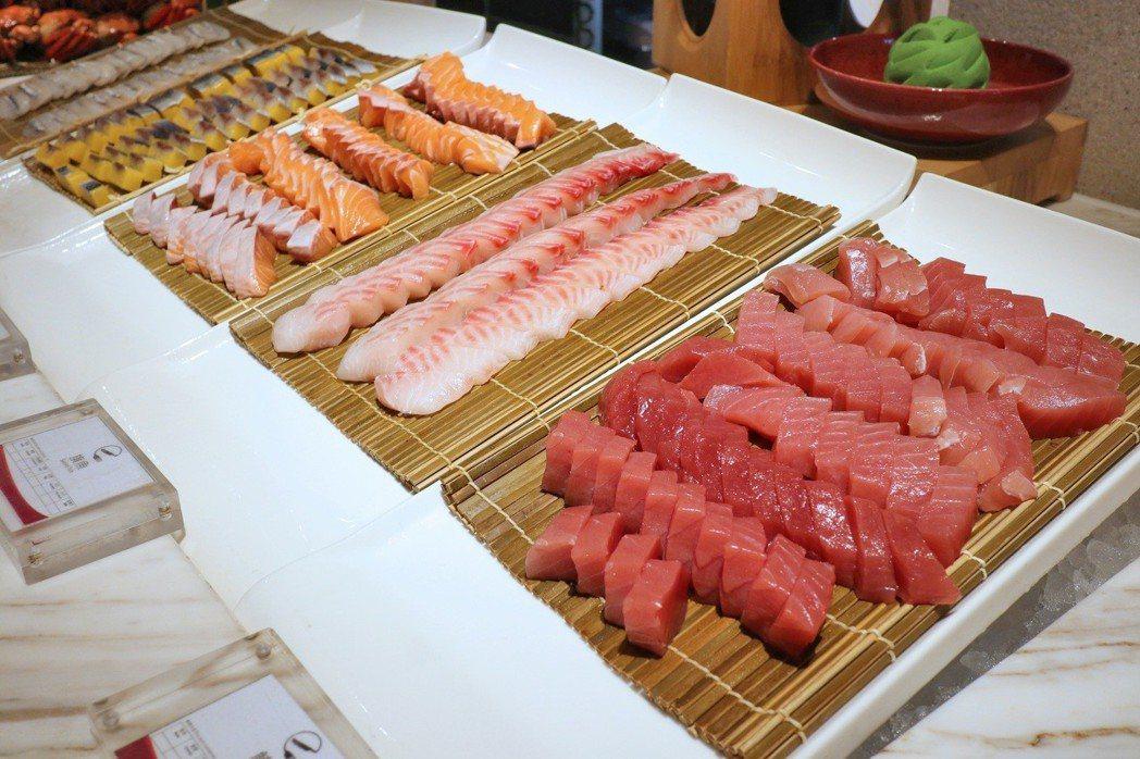 生魚片區增加5種新選擇,無限供應。 業者/提供