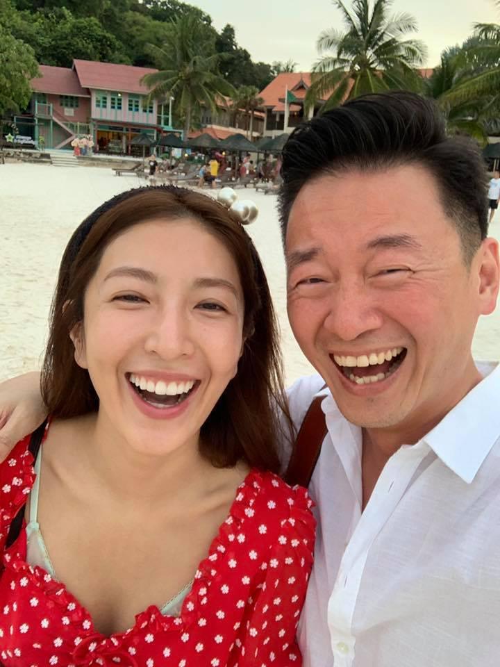網友發現楊謹華(左)的老公表情撞臉吳宗憲。圖/摘自臉書