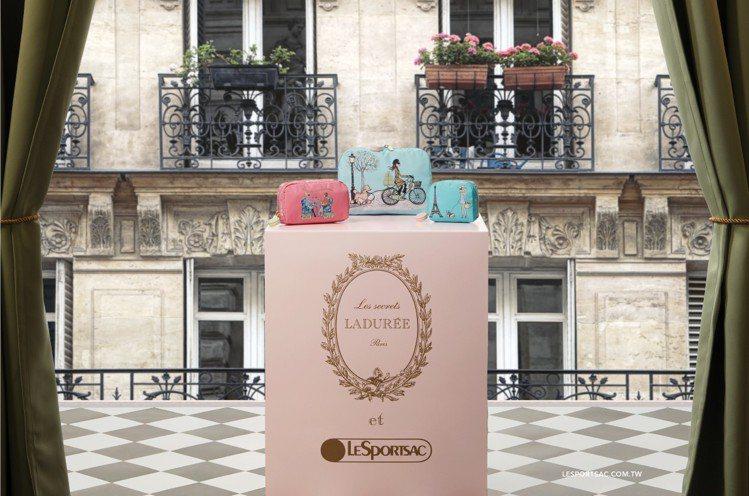 LeSportsac攜手法國百年馬卡龍品牌LADURÉE的禮品系列Les Sec...