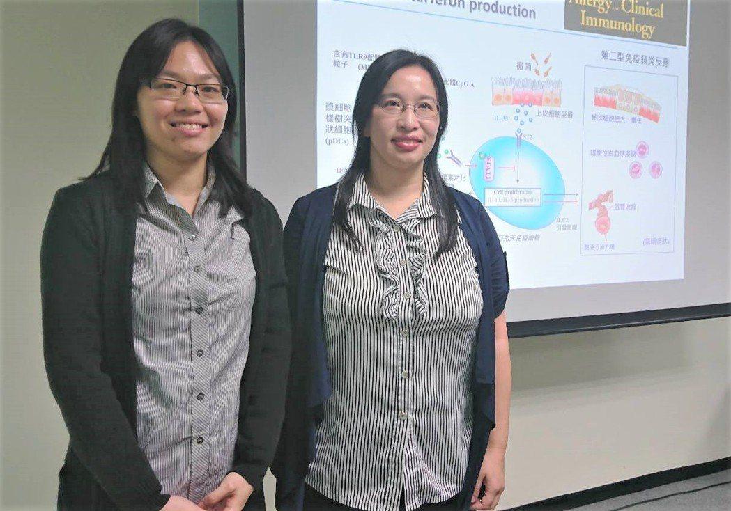 研究第一作者張麗萍博士(左)與張雅貞助研究員。記者羅真/攝影