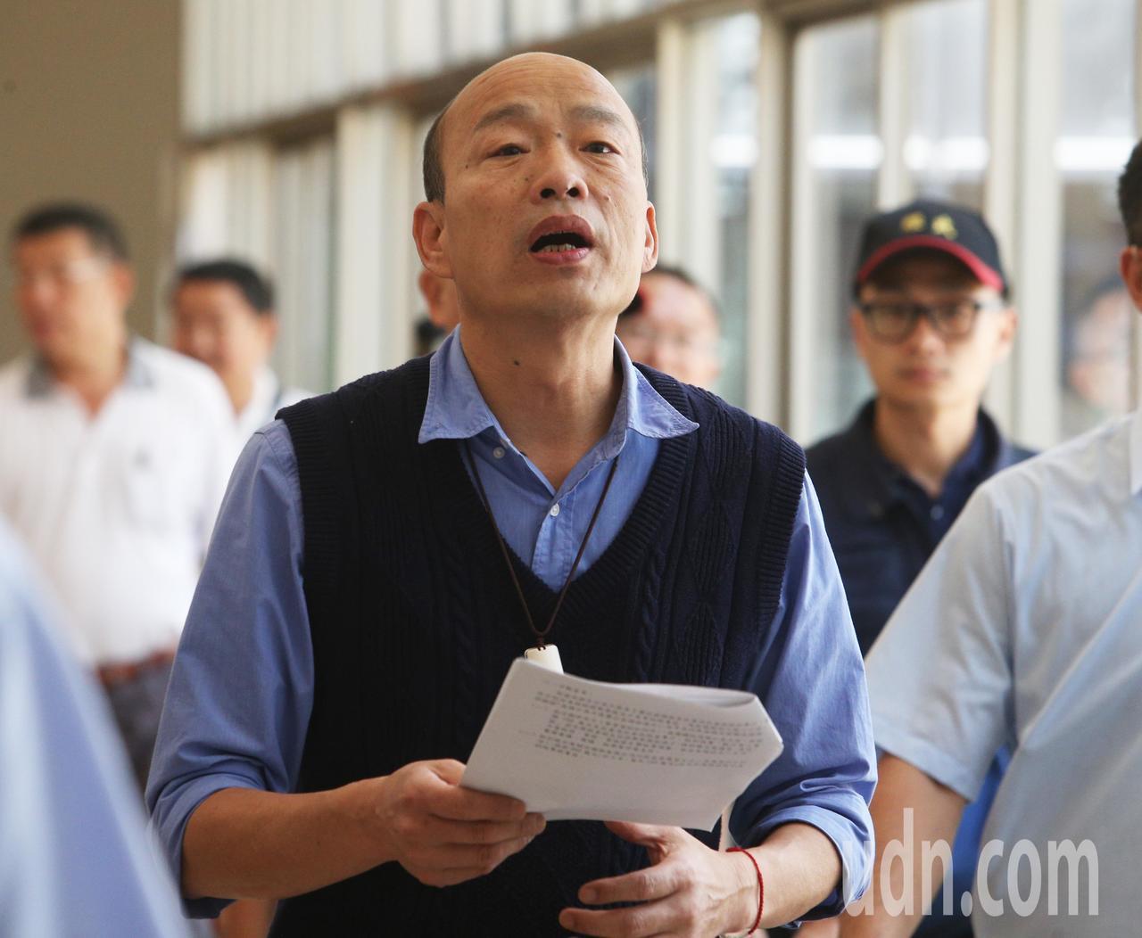 高雄市長韓國瑜。聯合報系記者劉學聖/攝影