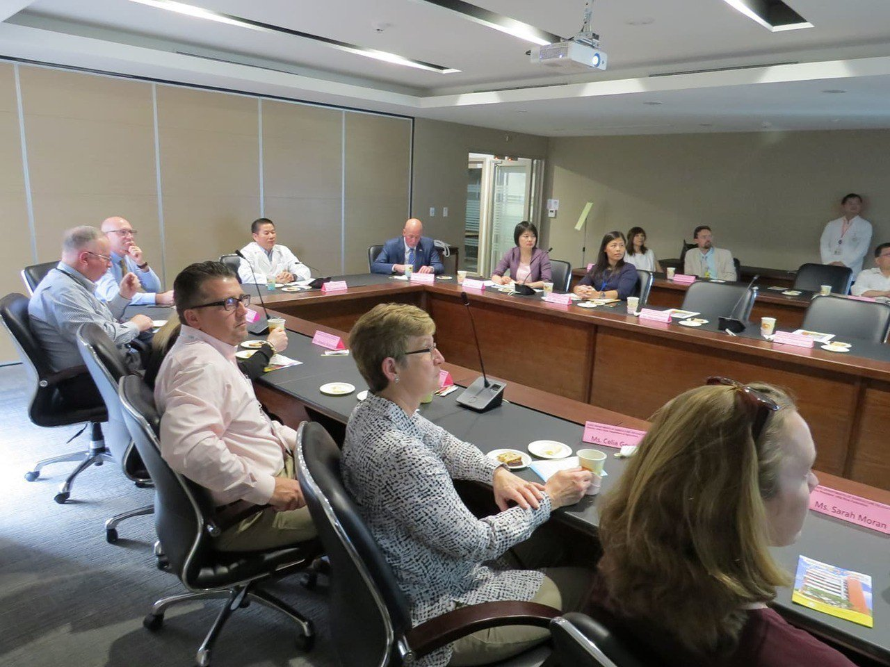 美國農業部貿易訪問團22日至25日訪台,主要是銷美國的農產品,24日也參觀了中華...