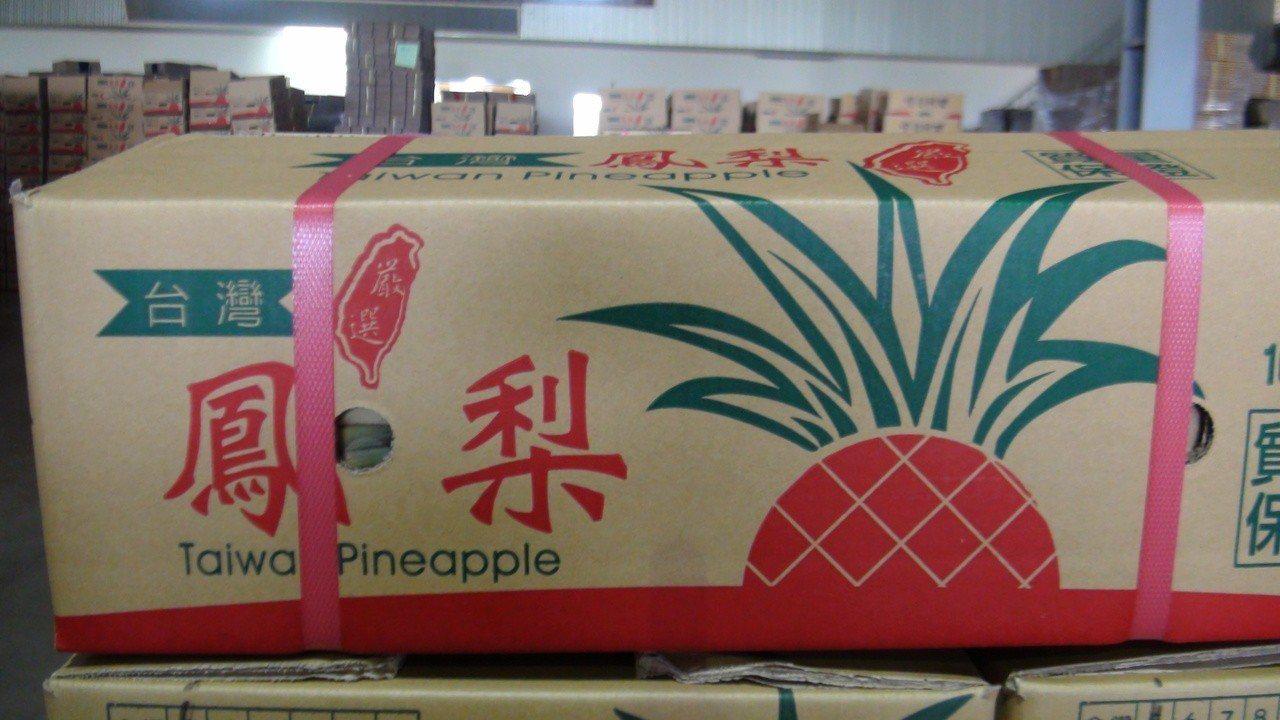 中華統一促進黨到嘉義縣向農民收購鳳梨外銷中國大陸。。記者謝恩得/攝影