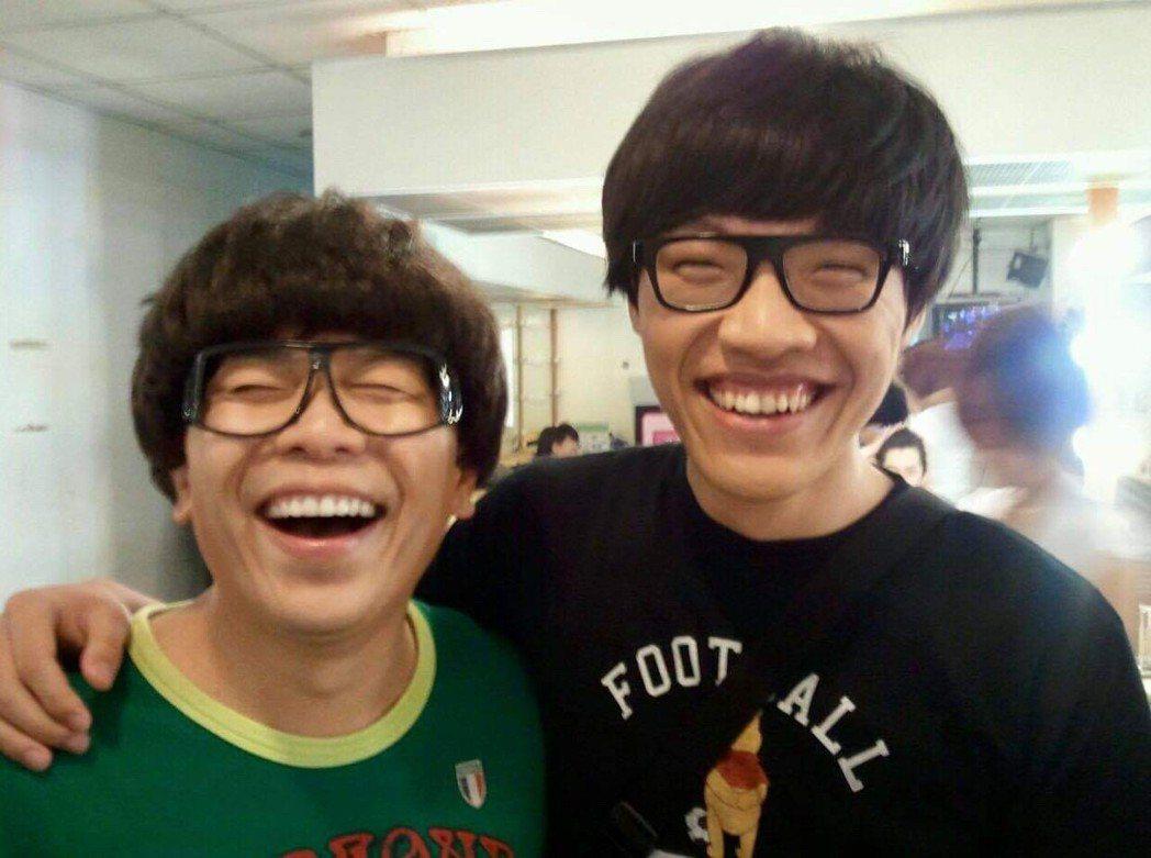 許傑輝(左)扮真假盧廣仲。圖/許傑輝提供