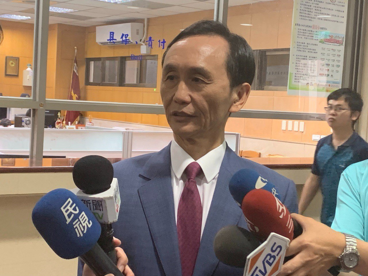 吳子嘉被陳菊自訴加重誹謗罪,吳今天出庭。記者王聖藜/攝影