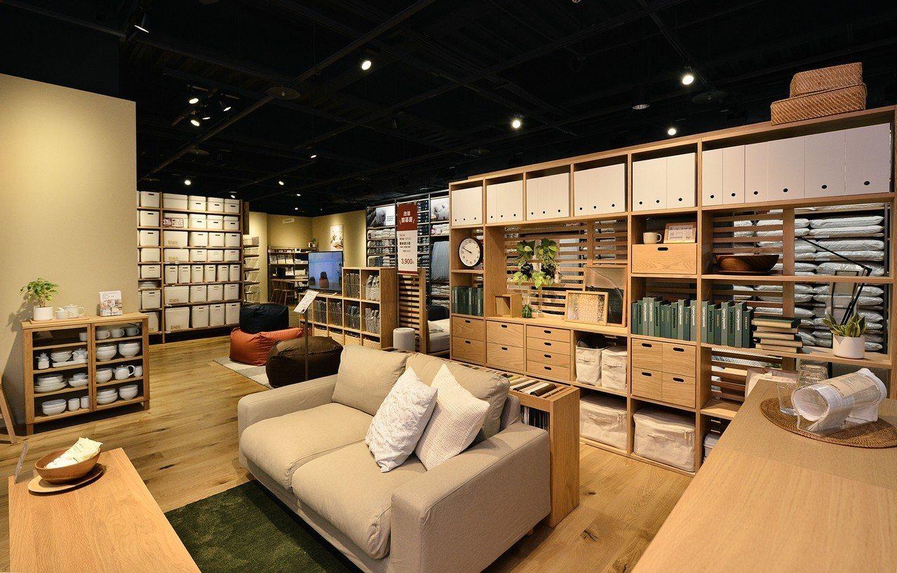 改裝後的MUJI無印良品巨蛋門市提供更多款家具陳列。圖/無印良品提供