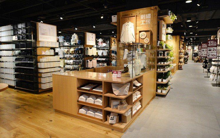 MUJI無印良品巨蛋門市改裝開幕,全新的「刺繡工房」可在門市購入的布製品加入喜愛...