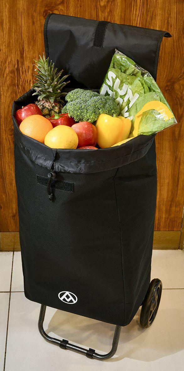 保溫保冷購物車32L,袋子與車架可拆。圖╱全聯提供