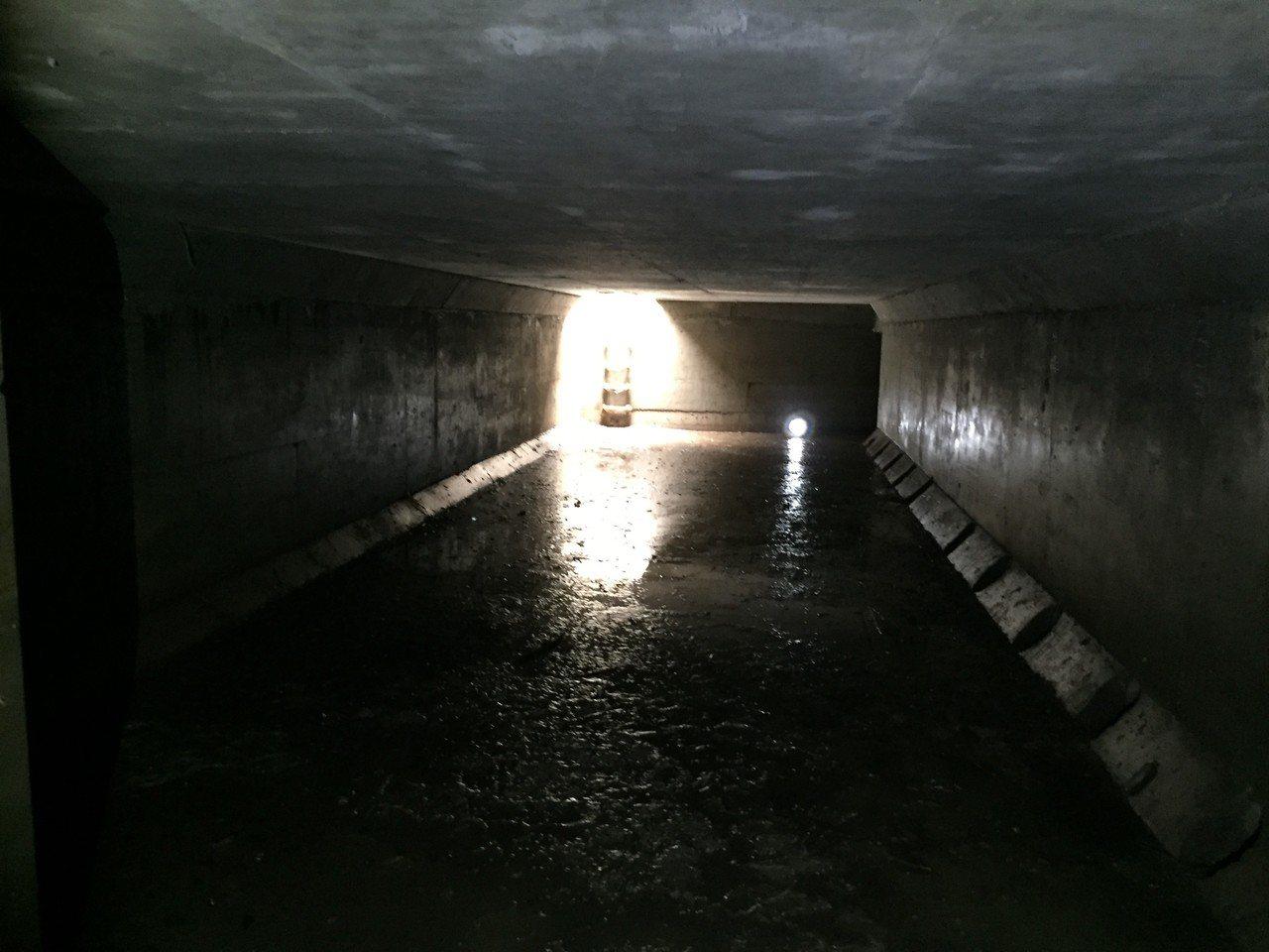新北五股成州國小為達到滯洪效益,在地底下設計了一個500噸的地下貯水池,下雨時讓...