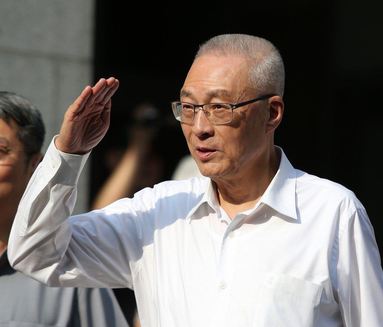 國民黨主席吳敦義。記者林澔一/攝影