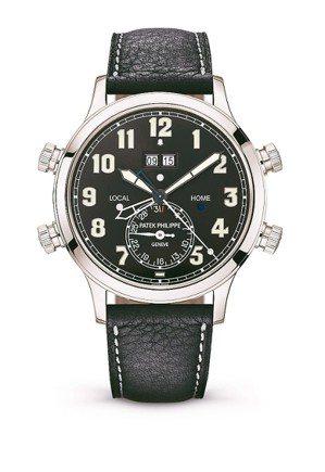 百達翡麗5520P-001兩地時間響鬧鉑金腕表,42.2毫米鉑金表殼、AL 30...