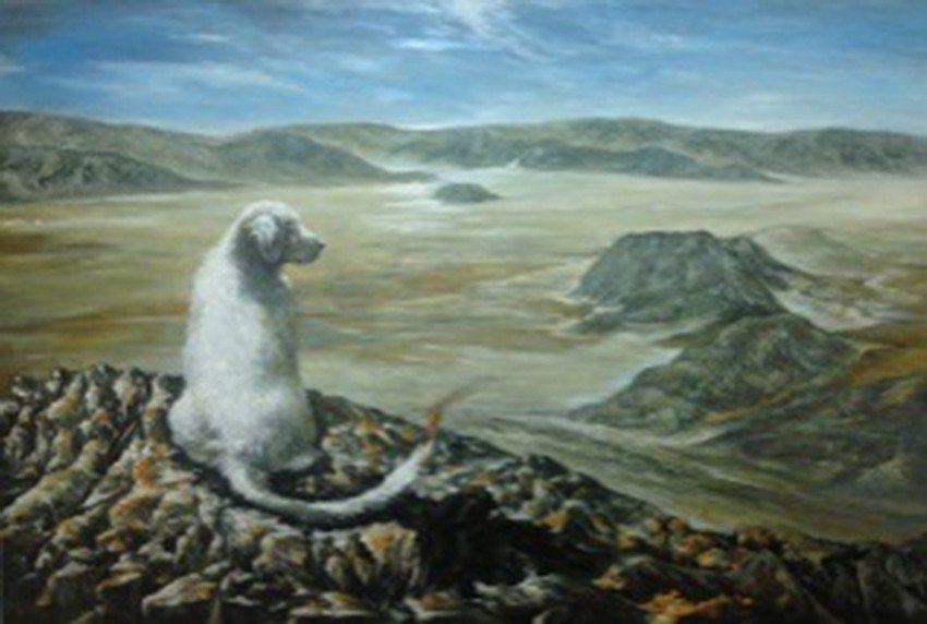〈坎離之際〉,2016,油畫,91x65cm(30M)。 人文遠雄博物館/提供