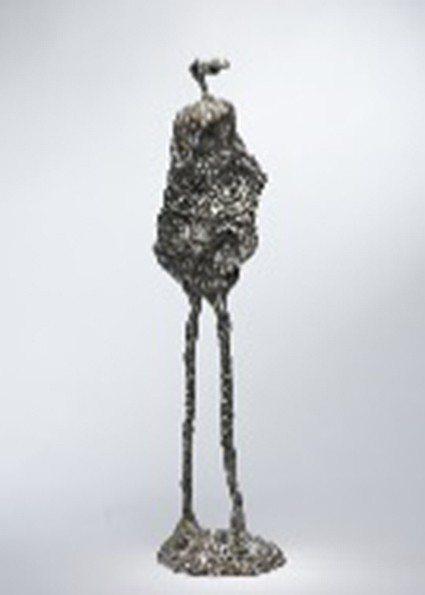 〈旅人系列之1〉,2009,不鏽鋼,84×20×20cm。 人文遠雄博物館/提供