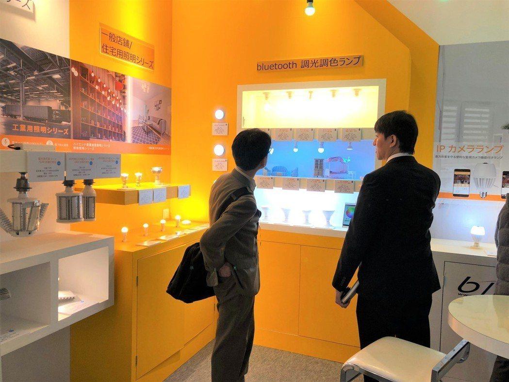 麗光科技參展2019東京國際綜合照明展的現場照片。業者/提供