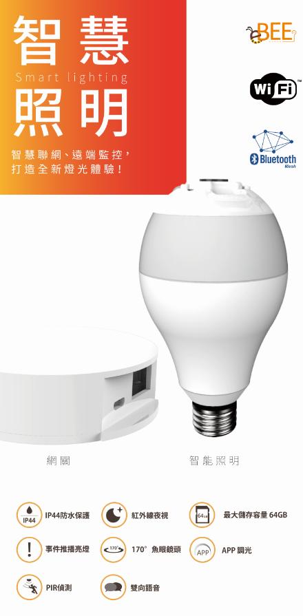 最新智慧照明系列產品-「I.P. Camera Lamp III」。業者/提供