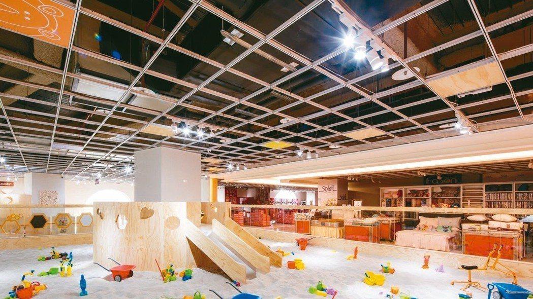 暐順集團打造賣場「6+PLAZA」,更設計不少孩子的遊戲場所。 圖/暐順集團提供