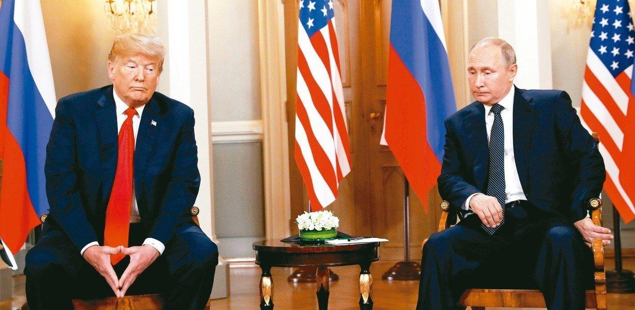 美國總統川普(左)傳出下令他的政府做準備,希望推動與俄羅斯和中國談成新的軍備控制...