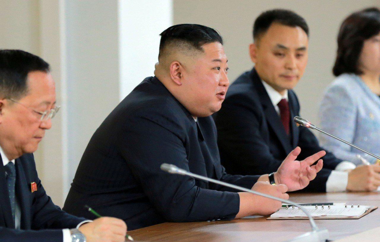 北韓領導人金正恩。 路透社