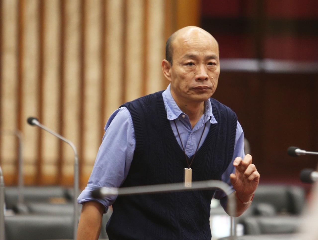 韓國瑜駁斥「夫人干政」說法。 聯合報記者劉學聖/攝影