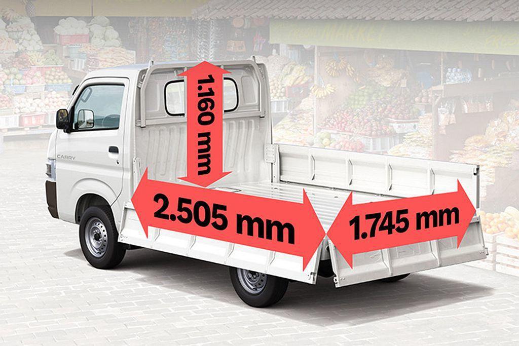 略為放大的車格也使新Suzuki Carry有更大的後貨斗承載能力。 圖/Suz...