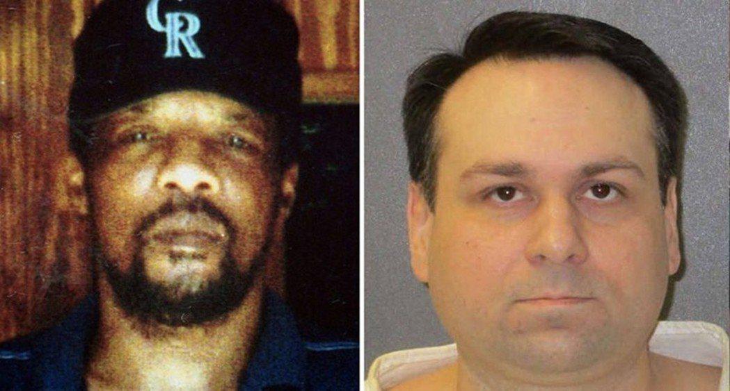 1998年6月7日,德州49歲的黑人小詹姆斯.伯德(左)被約翰金(右)等三人虐殺...
