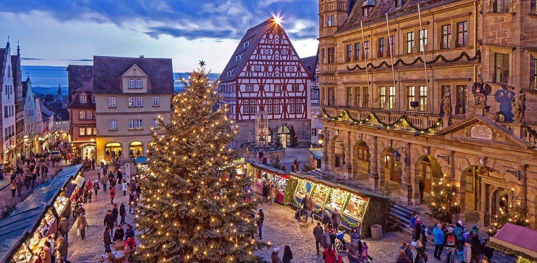 歐洲6大聖誕市集之一「羅騰堡聖誕市集」。典藏旅遊/提供