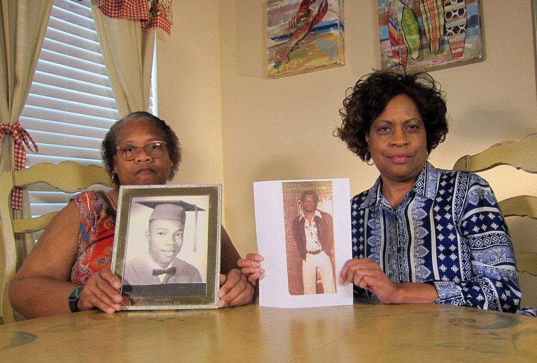 死刑之後,天下太平?圖為2019年4月10日,伯德的姊妹梅林達(左)與盧馮(Lo...