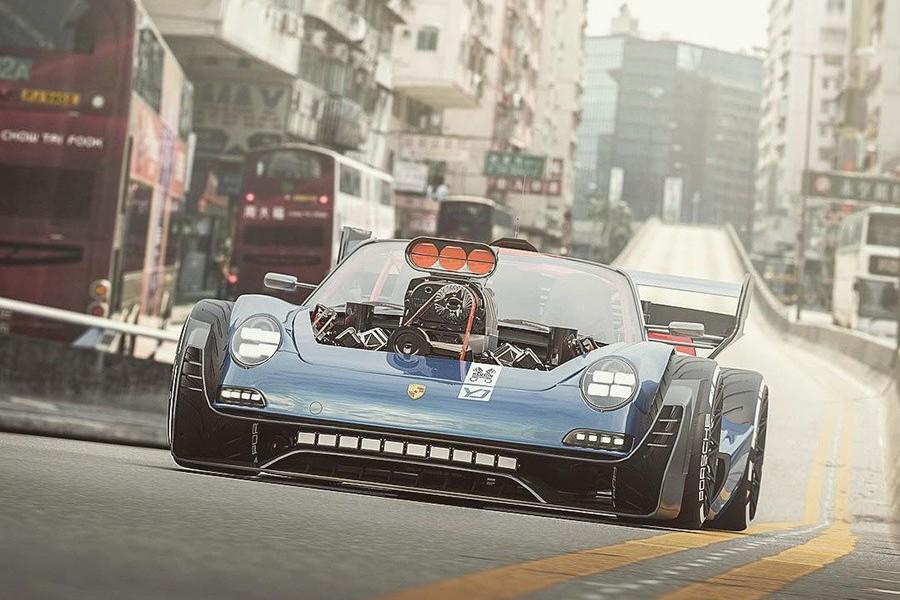 Porsche車迷要抓狂了!911竟然改成前置V8引擎的肌肉車!