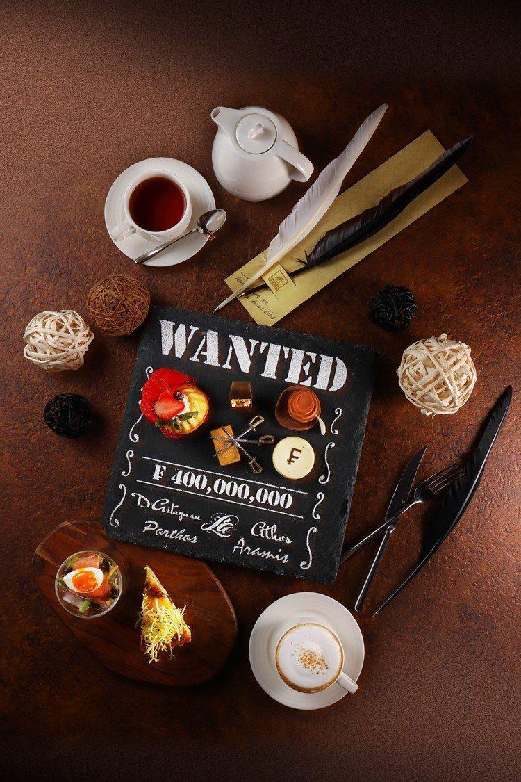 閨密下午茶也可以很Man!亞都麗緻巴賽麗廳讓經典三劍客重聚一堂。圖/亞都麗緻提供