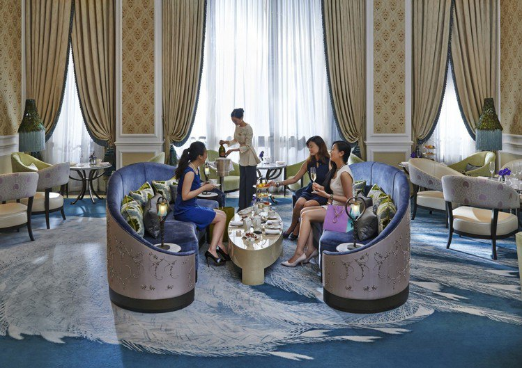 青隅下午茶空間奢華優雅。圖/台北文華東方酒店提供