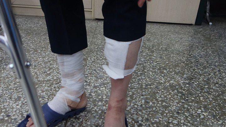 時任苓雅分局凱旋路派出所長吳銘雄遭通緝犯開車撞擊拖行。本報資料照片