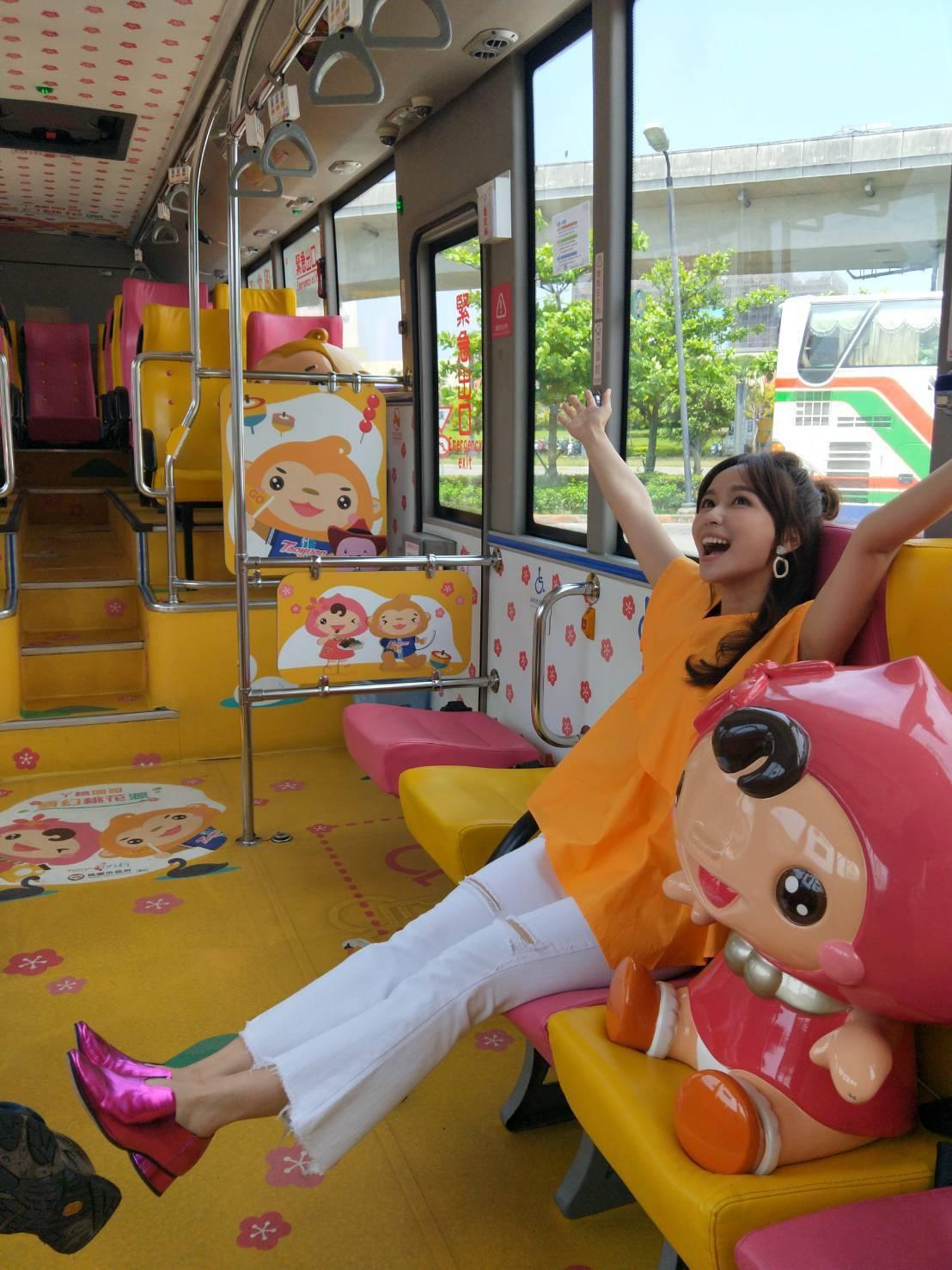 台灣好行大溪快線客運車大幅提升觀光價值。圖/桃園市觀旅局提供