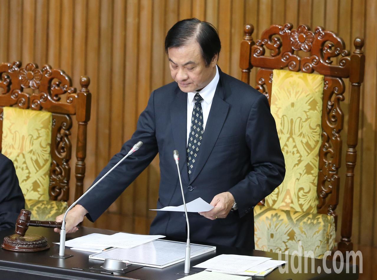 立法院長蘇嘉全。聯合報系記者許正宏/攝影