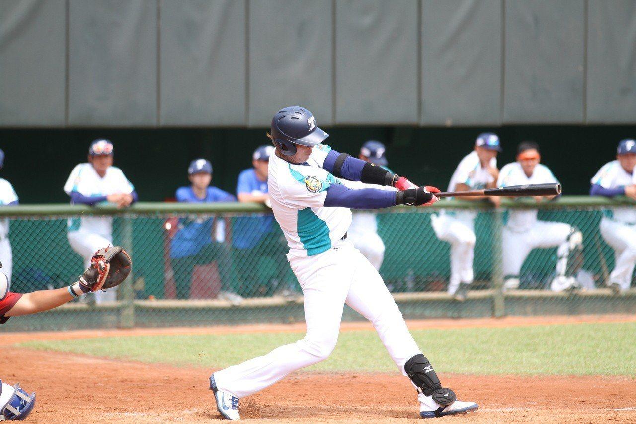陳敏賜在春季聯賽打了4場轟出2發全壘打。圖/台壽保提供