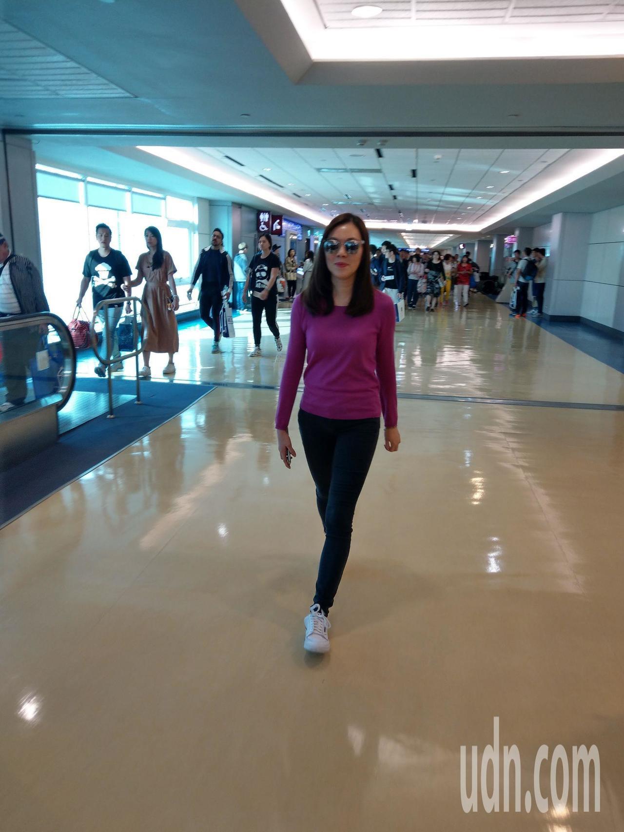 出國散心的郭台銘夫人曾馨瑩(圖)下午返抵國門。記者鄭超文/攝影