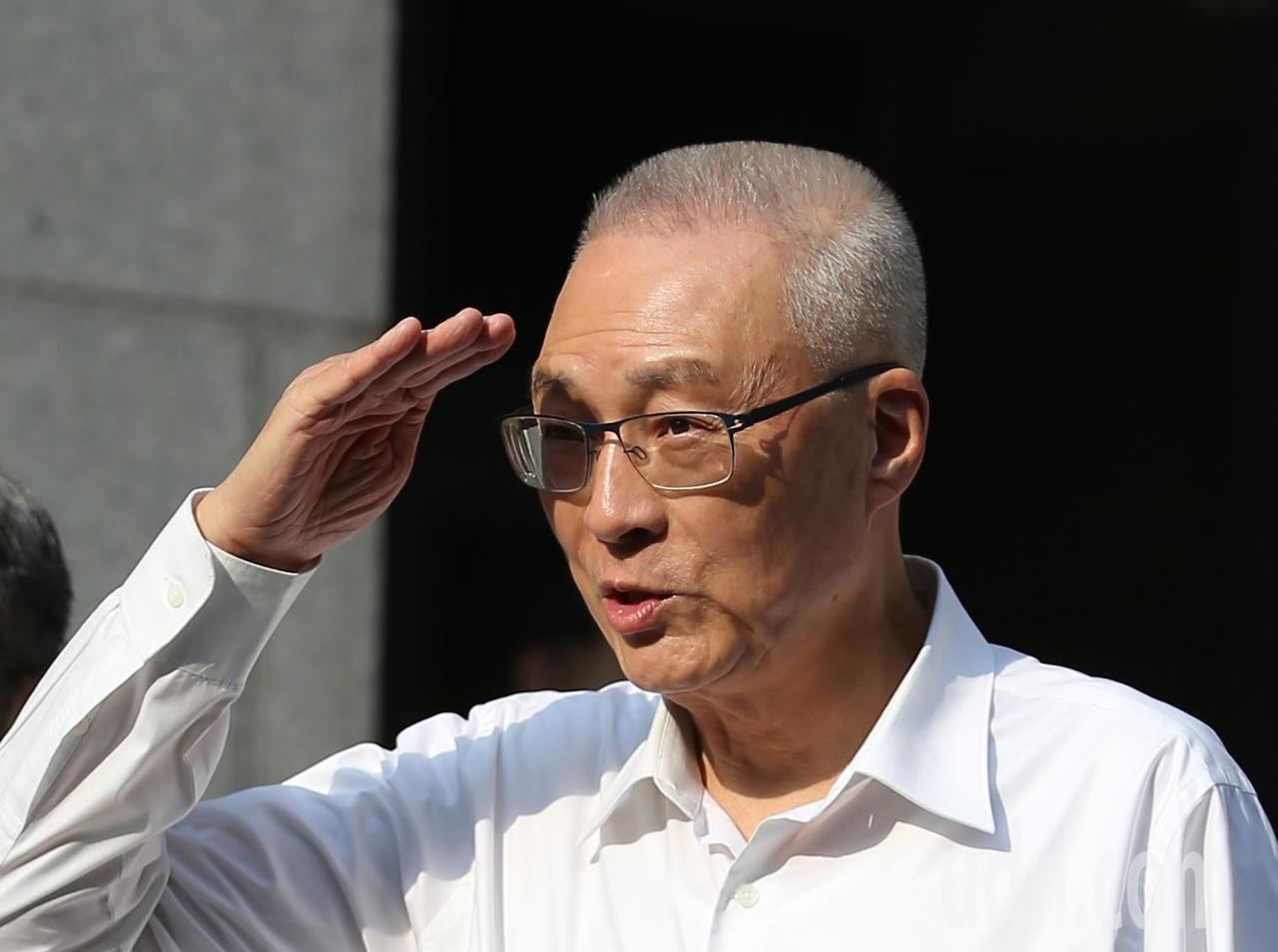 國民黨主席吳敦義出席啟智協會會員大會暨育智獎頒獎典禮。記者林澔一/攝影