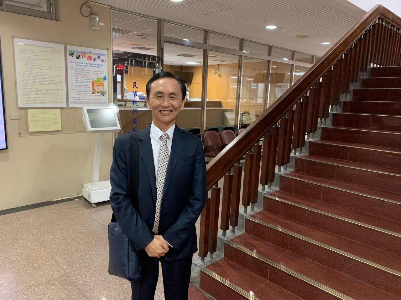 吳子嘉今天再度為被控加重誹謗到法院出庭。記者王聖藜/攝影