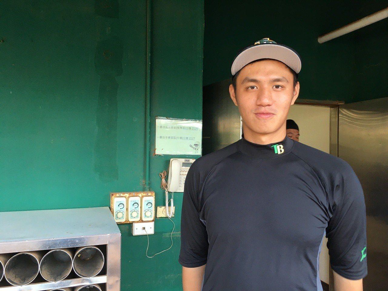 台灣啤酒隊王牌投手鄭浩均。記者葉姵妤/攝影