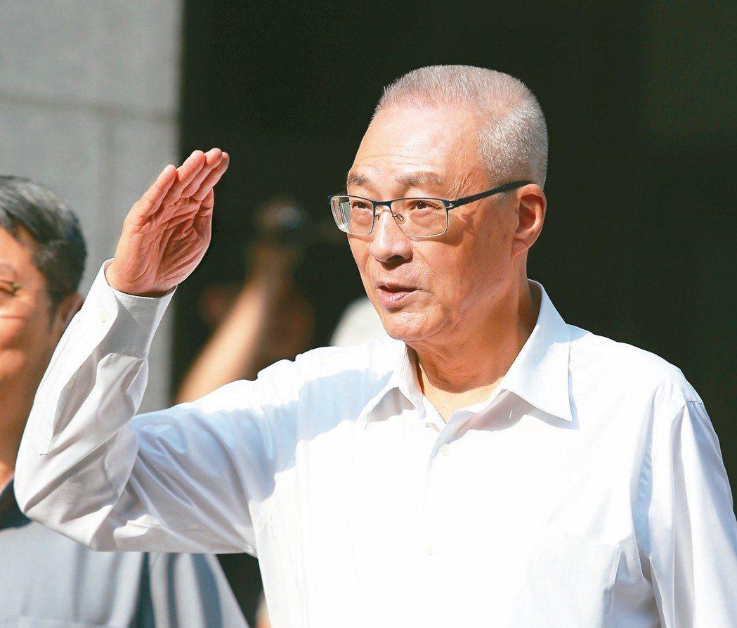 國民黨主席吳敦義。 聯合報系記者林澔一/攝影