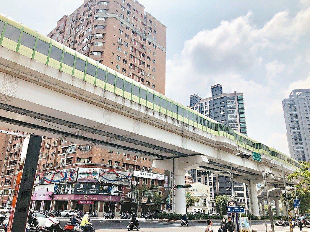 台中市五期重劃區隨著台中捷運綠線即將完工通車,區域房市再添利多。 記者宋健生/攝...