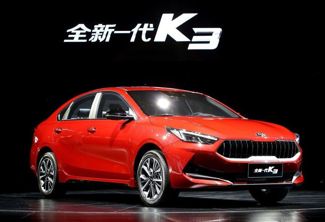 中國版新世代Kia K3日前在上海車展正式發表。 摘自Kia