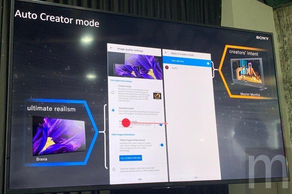 Xperia 1搭載的Creator Mode顯示模式將能對應更豐富色彩表現