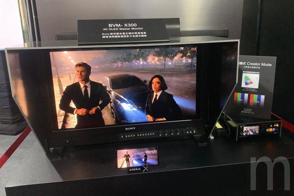 可比照Master系列監看螢幕使用模式,讓電影工作者可以利用Xperia 1當做...