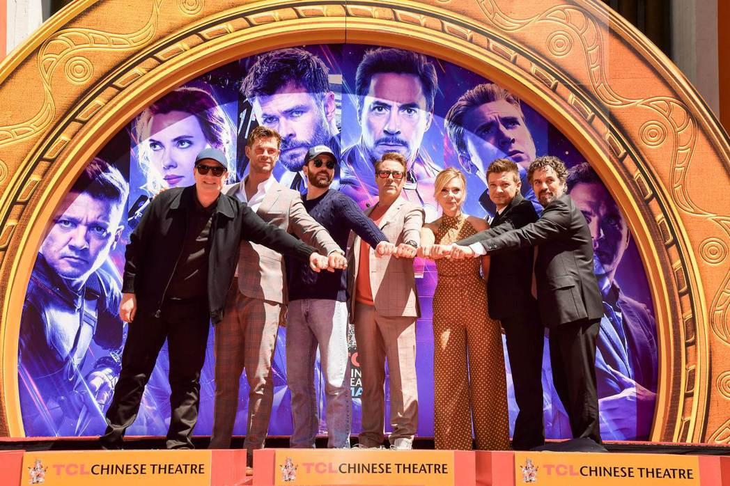 電影「復仇者聯盟:終局之戰」北美24日晚間上映,票房亮麗。圖為該系列電影主要演員