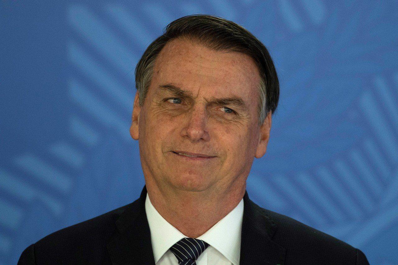 巴西總統波索納洛。歐新社