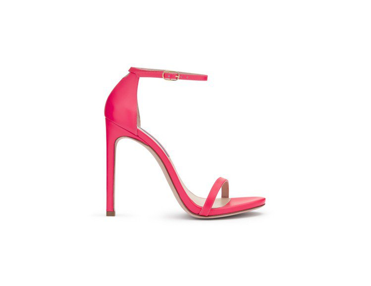 Stuart Weitzman Neon高跟涼鞋,售價16,200元。圖/Stu...